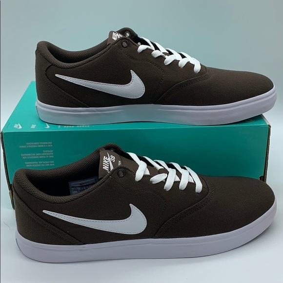 Nike Shoes Nike Sb Check Solar Cnvs Baroque Brownwhite Poshmark